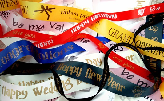 10m x 15mm Personalised Custom Printed Ribbon