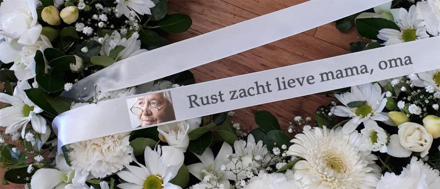 Begräbnisband mit Logo oder Foto